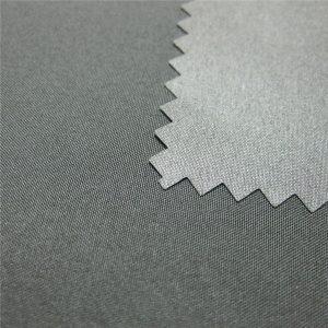 100% polyester Pongee s povrchovou úpravou nepremokavou vonkajšou bundou
