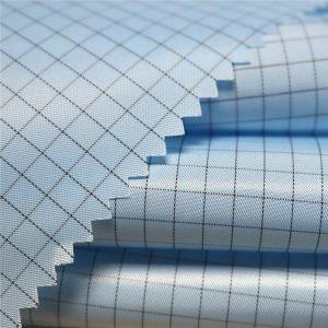 5mm pásiková polyesterová polyesterová antistatická tkanina pre antistatické odevy