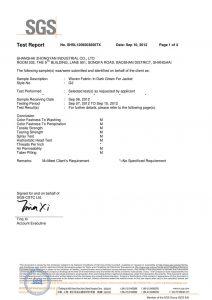 Tkaná látka v tmavo zelenej farbe pre bundy SGS certifikáty